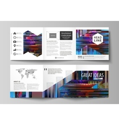 Business templates for tri fold brochures Square vector image vector image