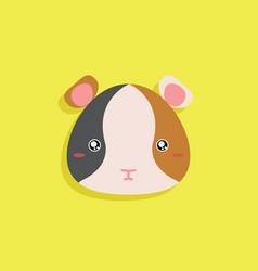 cartoon hamster face vector image