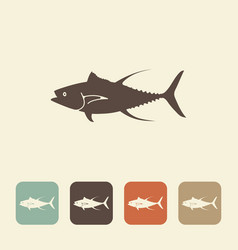 fish tuna stylized icons vector image vector image