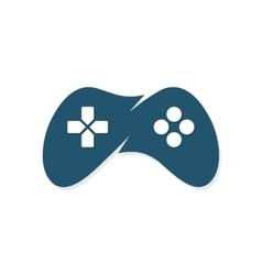 Game joystick or device controller logo vector