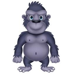 Gorilla cartoon vector image vector image