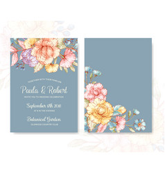 greeting cards template vector image vector image