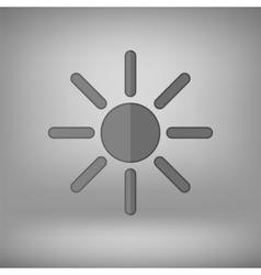 Grey Sun Icon vector image vector image