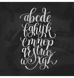 Hand lettering alphabet design handwritten brush vector
