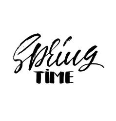 handwritten spring design spring time hand drawn vector image vector image
