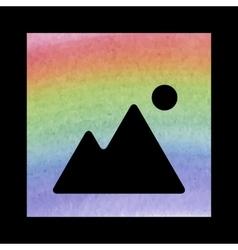 Image icon watercolor effect vector