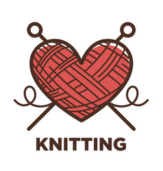 knitting wool clew icon for knit craft vector image