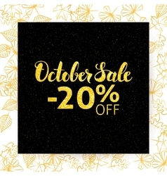 October sale poster vector