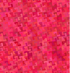 Red abstract puzzle pattern background design vector