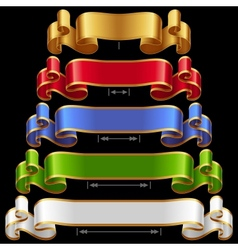 Ribbons set 12 vector image