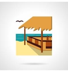 Sea terrace flat color design icon vector