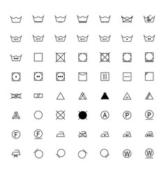 set of laundry symbols vector image vector image