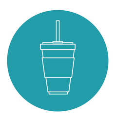Soda cup isolated icon vector