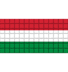 The mosaic flag of Hungary vector image vector image