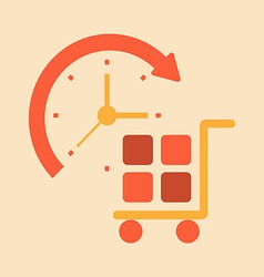 Time transport and handling of goods vector