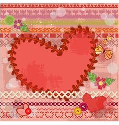 valentine handmade retro vector image