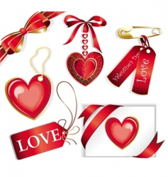 vector set with valentines sig vector image vector image