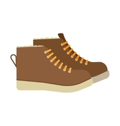 winter boots flat icon vector image vector image