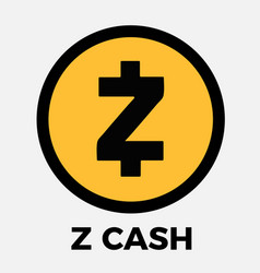 zcash zec cripto currency logo vector image vector image