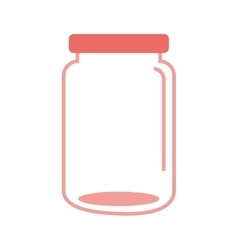 Mason jar glass icon vector
