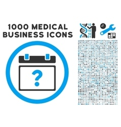 Unknown date icon with 1000 medical business vector