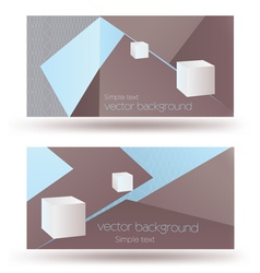 Business background card vector image