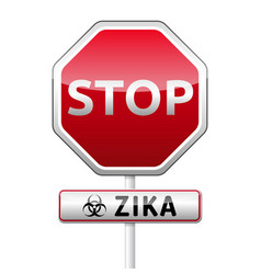 Zika virus danger sign with reflect and shadow on vector