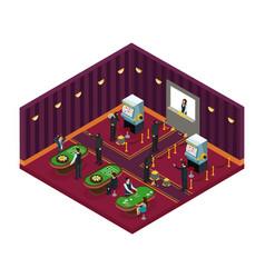 isometric casino robbery concept vector image