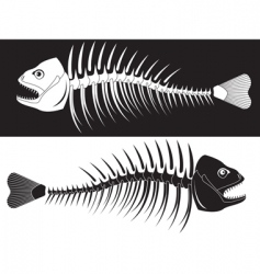 Skeleton fish vector