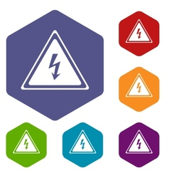 Voltage rhombus icons vector
