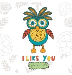I like you you are so cute colorful concept card vector
