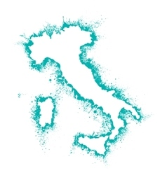 Italy and sicily map format in the spray vector