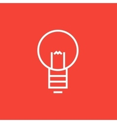 Lightbulb line icon vector