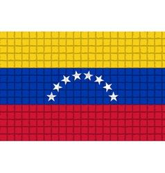 The mosaic flag of Venezuela vector image