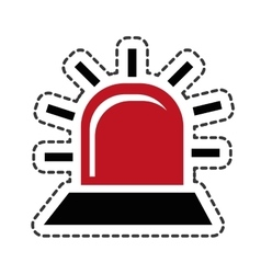 Alarm light isolated icon vector