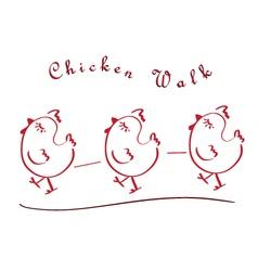 chicken walking vector image
