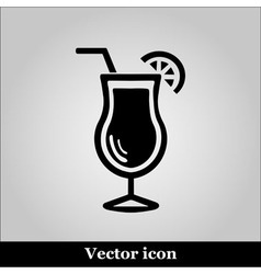 Cocktail icon glass of alcohol drink sign vector image vector image