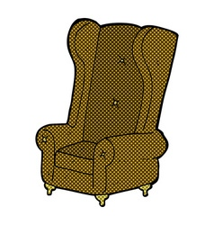 comic cartoon old armchair vector image