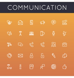 Communication line icons vector