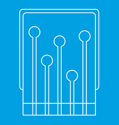 Computer processor icon outline vector