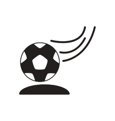 Flat icon in black and white soccer ball vector
