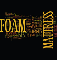 Foam mattress text background word cloud concept vector