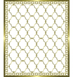 gold grid vector image vector image