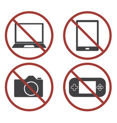 items not allowed to carry in luggage for vector image
