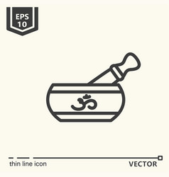 One icon - singing bowl vector