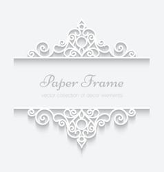Ornamental paper frame vector image