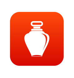 Parfume bottle icon digital red vector