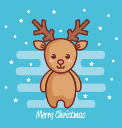 reindeer christmas character icon vector image vector image
