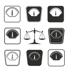 Scale icon set vector image