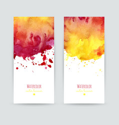 Set of two banners vector image vector image